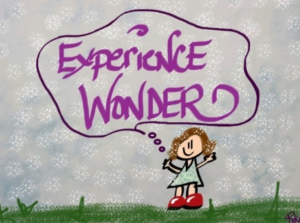 iPad drawing - Experience Wonder says Lil Girl standing in the snow