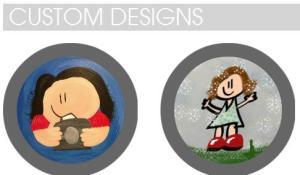 Lil girl art custom design inserts