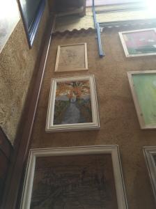 Art at Albergue San Miguel - wall of art