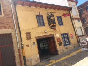 Out front at the Albergue San Miguel